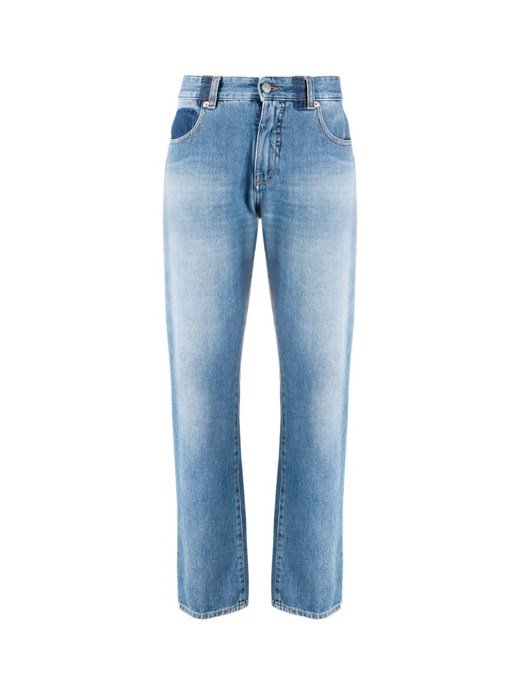 STRAIGHT-LEG HIGH-WAISTED JEANS - 아데쿠베