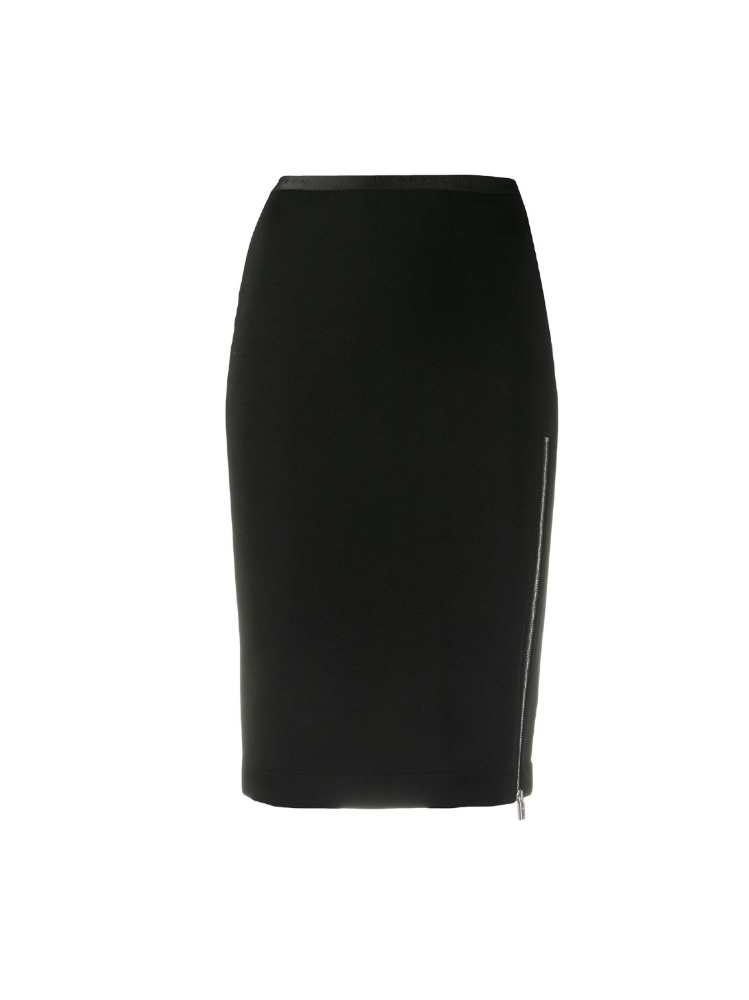 ZIP SIDE SLIT PENCIL SKIRT - 아데쿠베