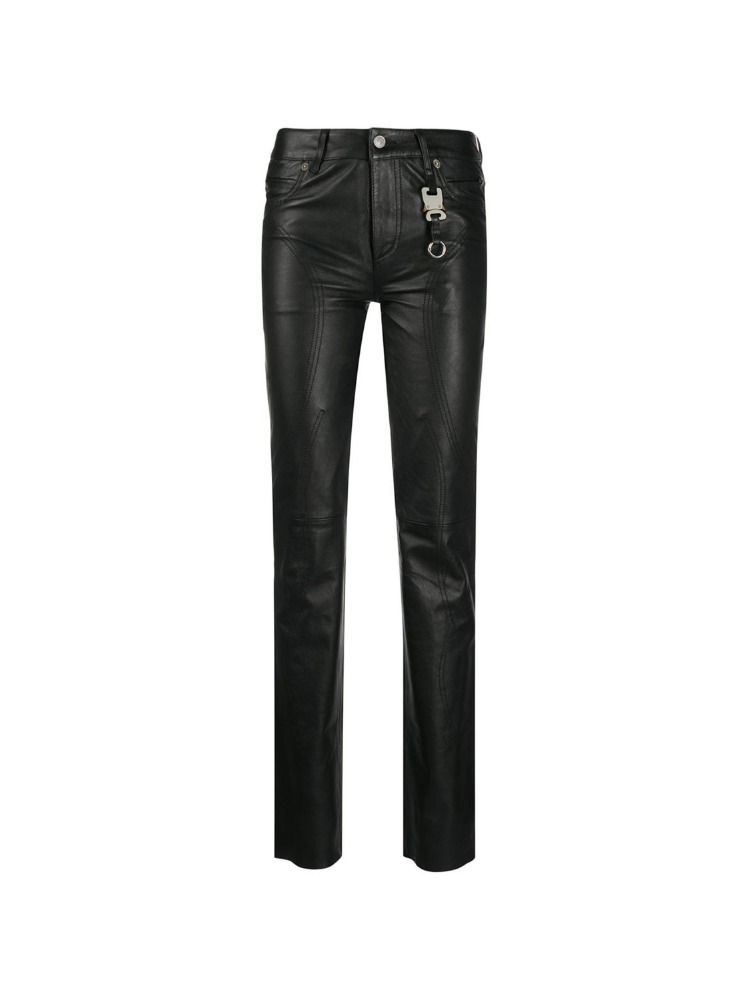 FITTED LEATHER TROUSERS - 아데쿠베
