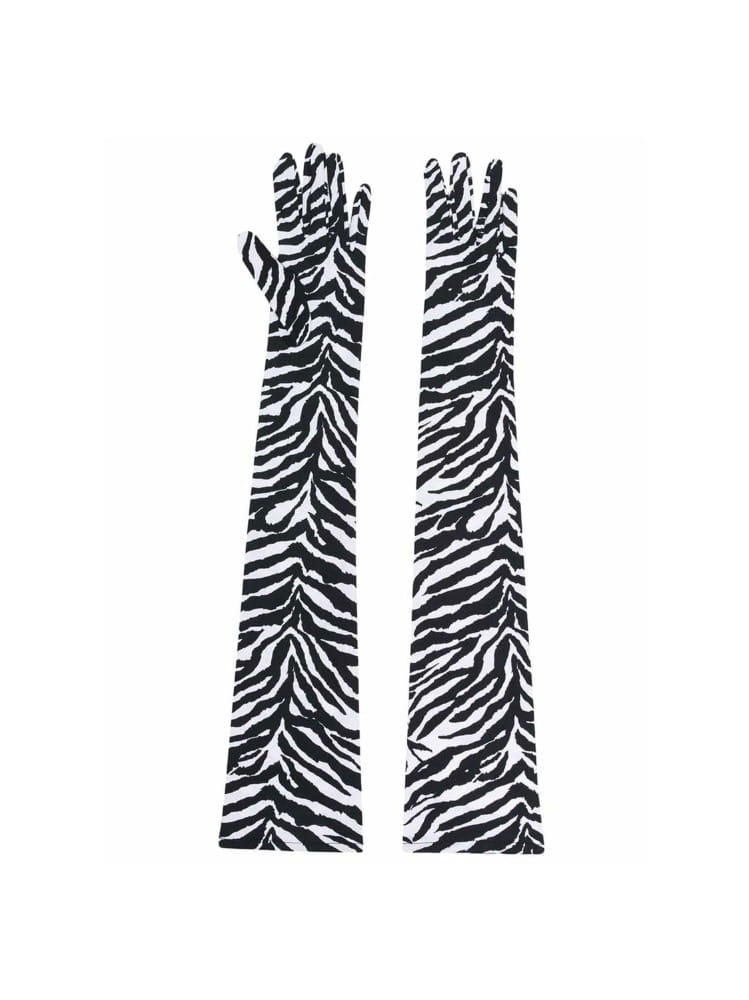 ZEBRA PATTERN LONGLINE GLOVES - 아데쿠베