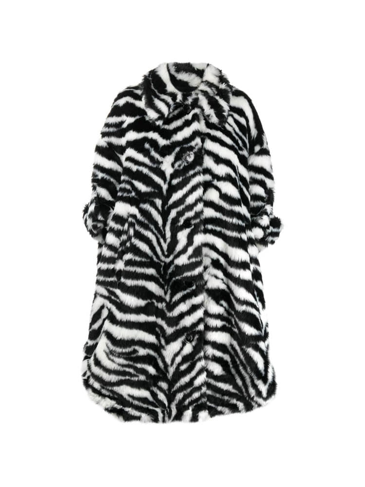 OVERSIZED ZEBRA COAT - 아데쿠베