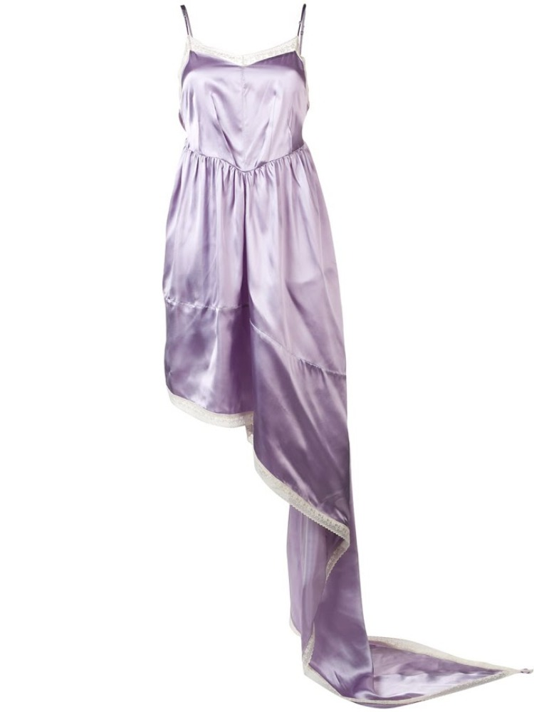 MM6 뷔스티에 드레스  LAVENDER ASYMMETRIC BUSTIER DRESS - 아데쿠베
