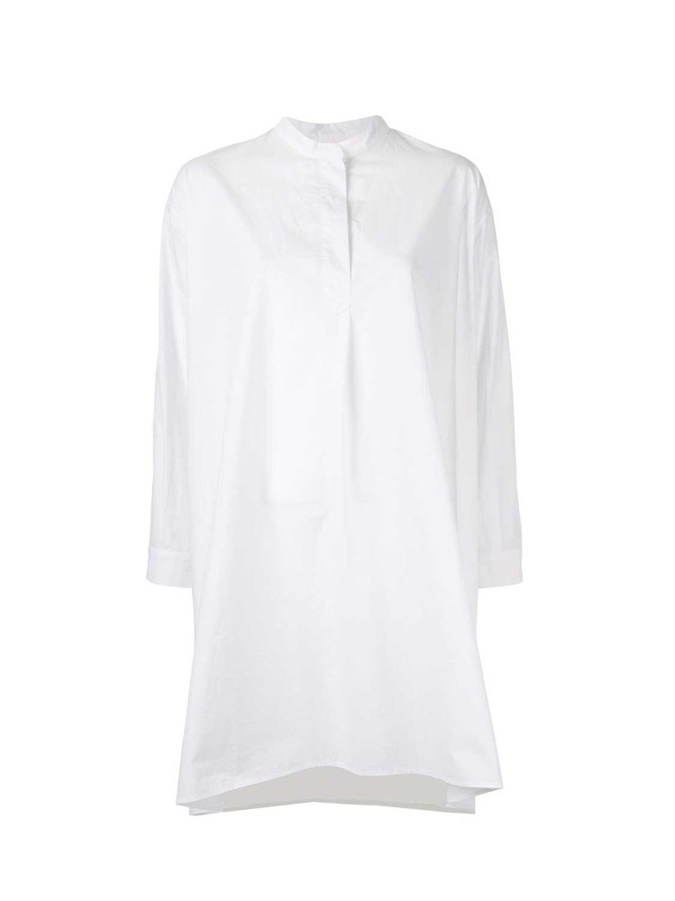 HIGH DENSITY COTTON LONG BLOUSE - 아데쿠베
