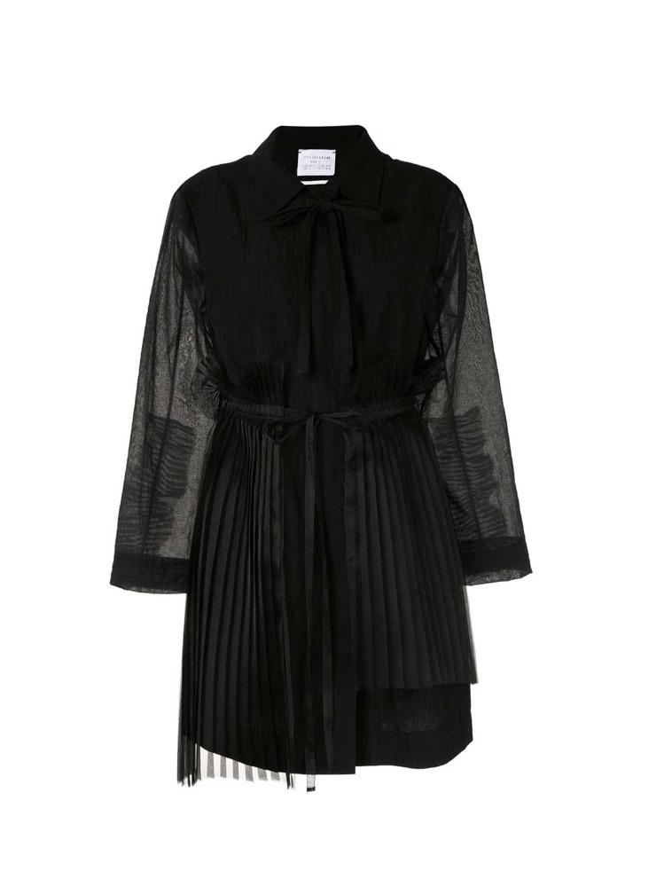 PLEATED BACK SEERSUCKER TRENCH COAT - 아데쿠베