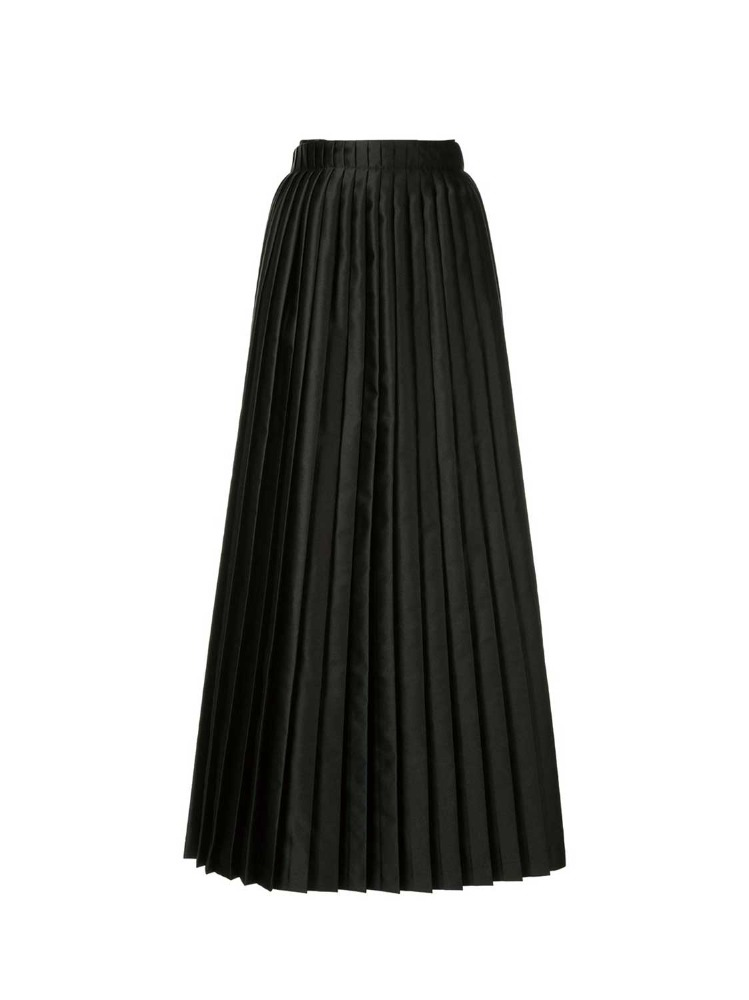 MM6 치마  BLACK WRAPPING PLEATED SKIRT - 아데쿠베