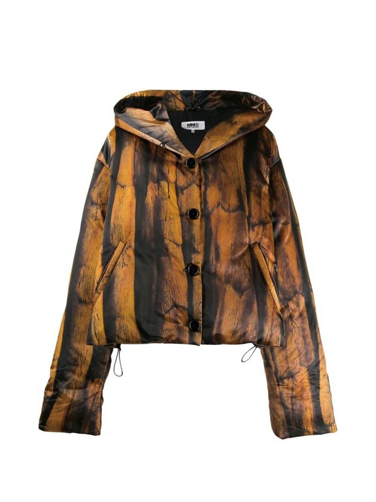 MM6 자켓  FUR PRINT PADDED JACKET - 아데쿠베