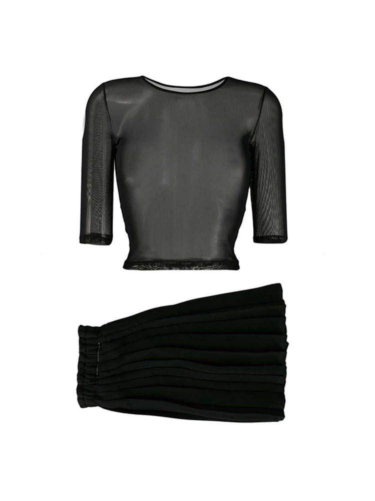 MM6 시스루 탑 & 스커트   BLACK PLEATED & SEATHROUGH SEPARATES TOP - 아데쿠베