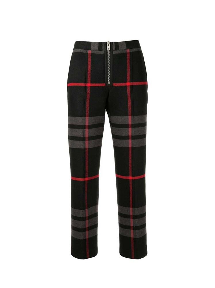 CROPPED PLAID PRINT TROUSERS - 아데쿠베