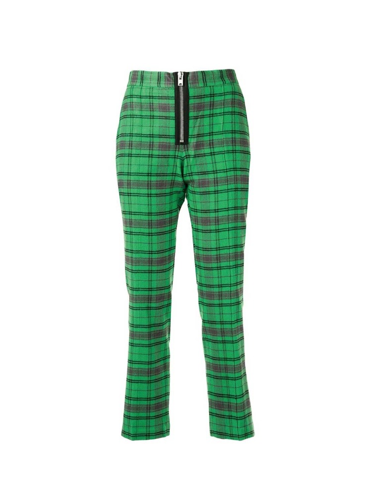 CROPPED PLAID TROUSERS - 아데쿠베
