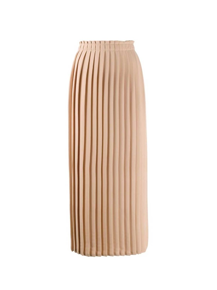MM6 밴딩 스커트  BEIGE PLEATED BANDING SKIRT - 아데쿠베