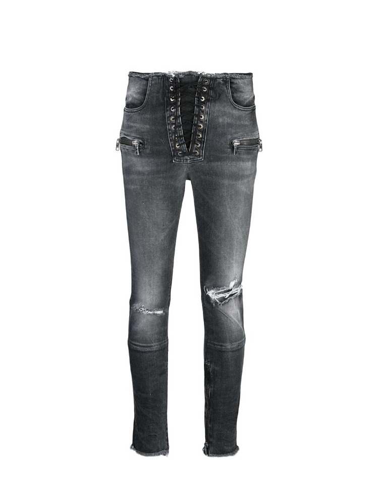 MOONWASH DNM SKINNY LACE UP - 아데쿠베