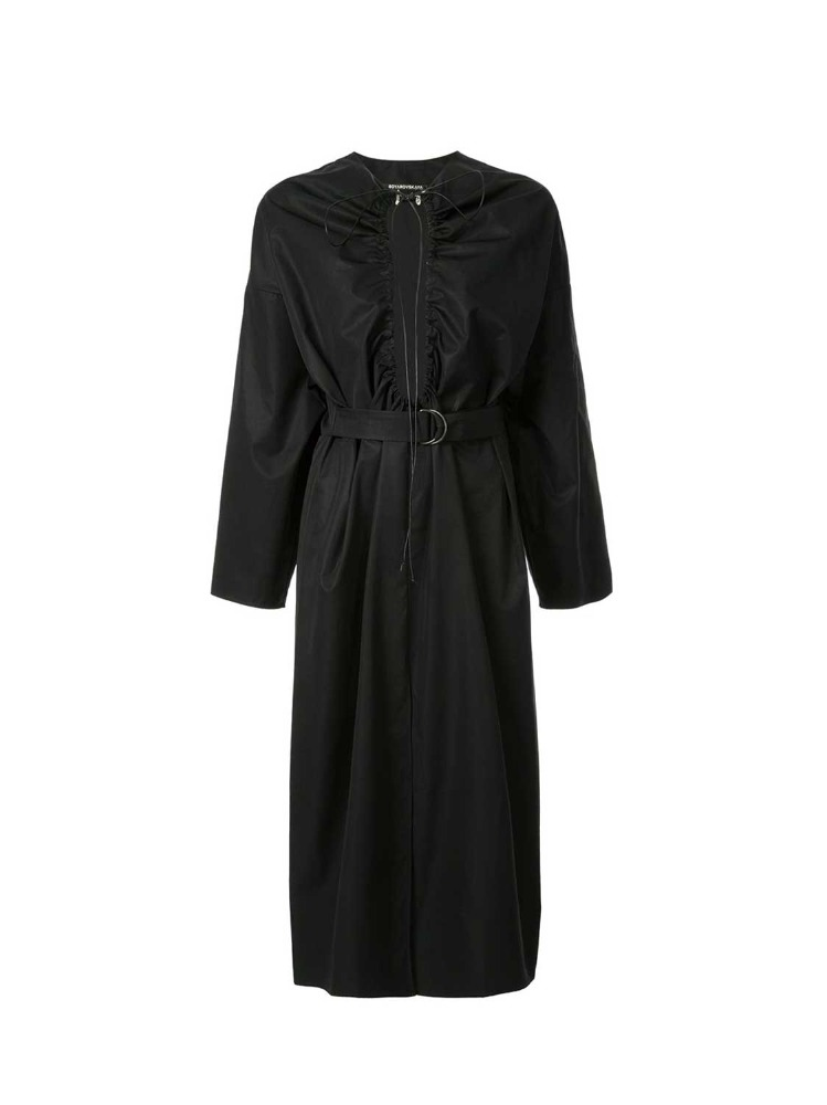 DRAWSTRING PANEL SHIRT DRESS - 아데쿠베