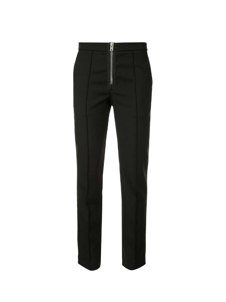 BLACK SLIM TAILORED TROUSERS - 아데쿠베
