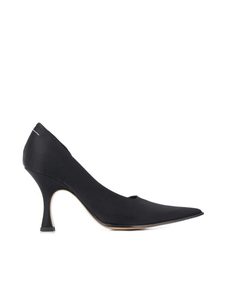 MM6 펌프스 힐  BLACK UPPER ASYMMETRIC PUMPS - 아데쿠베