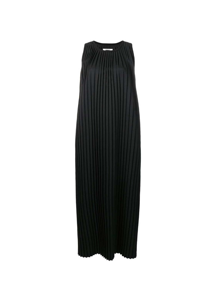 MM6 드레스  BLACK PLEATED DRESS - 아데쿠베