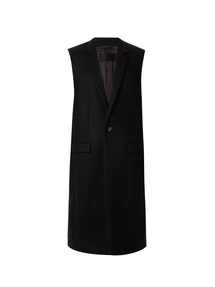 SLEEVELESS TAILORED COAT - 아데쿠베