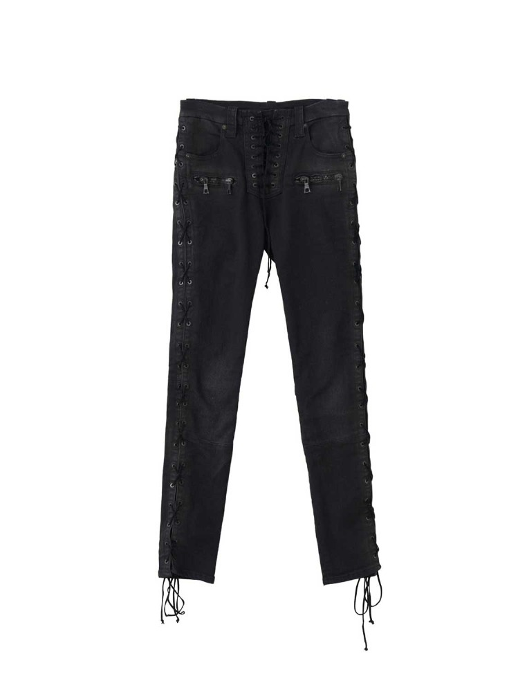 WAX DNM SIDE LACE UP SKINNY - 아데쿠베