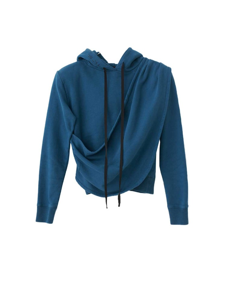 TERRYB DRAPED SPALLINE HOODIE - 아데쿠베