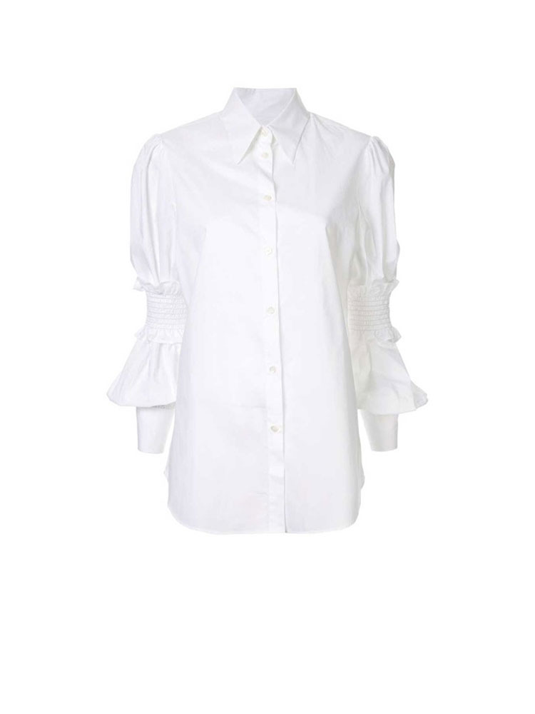 MM6 셔츠  WHITE SLEEVE-LACED SHIRT - 아데쿠베