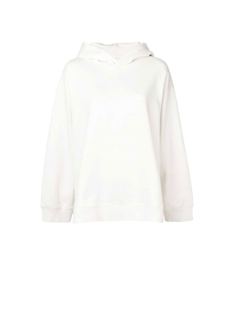 MM6 로고 프린트 후드티  WHITE HOODY WITH ARTICLE - 아데쿠베