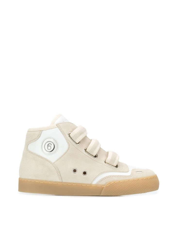 MM6 터치 스트랩 스니커즈 운동화   WHITE TOUCH STRAPS SNEAKERS - 아데쿠베