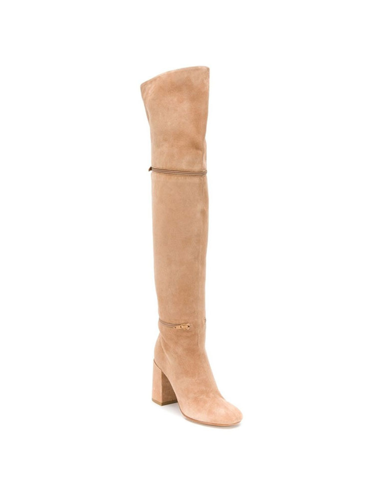 MM6 부츠  BEIGE THIGH HIGH BOOTS - 아데쿠베