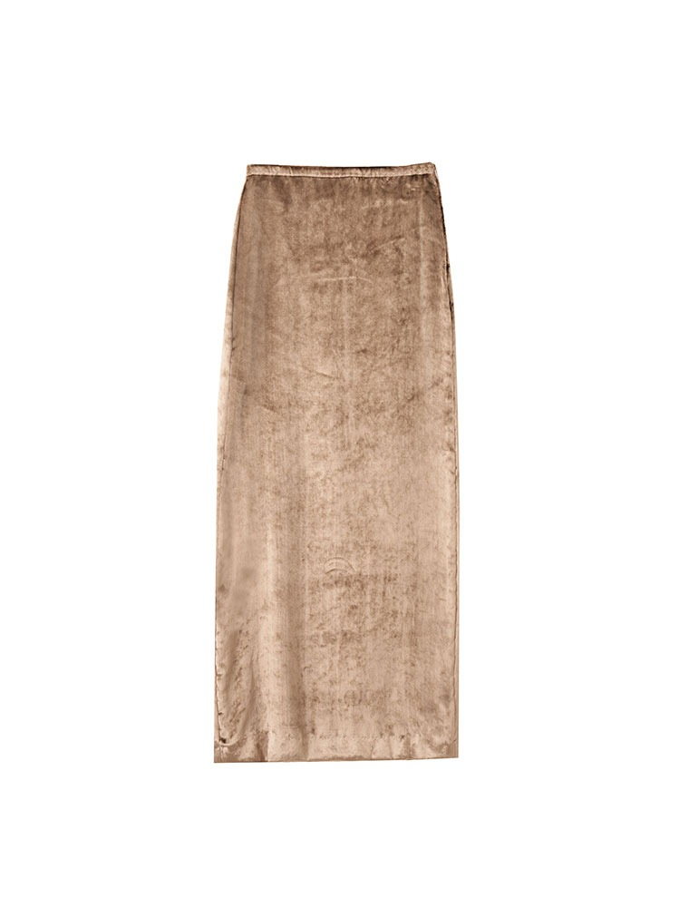 VELOUR WOMEN SKIRT - 아데쿠베