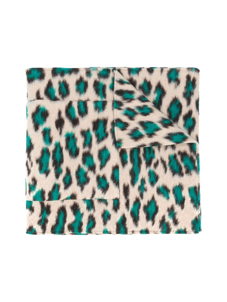 OVERSIZED LEOPARD PRINT SCARF - 아데쿠베