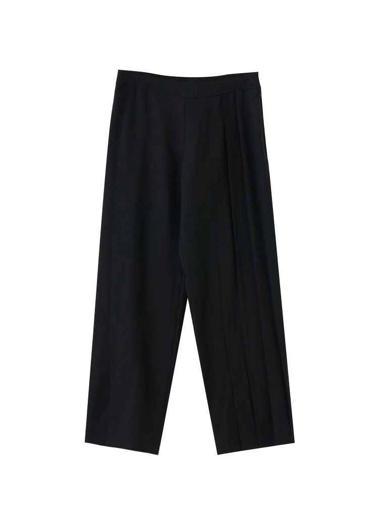 LINEN STRAIGHT CUT PANTS - 아데쿠베