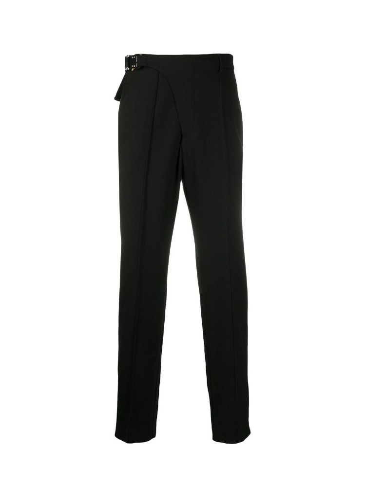 BUCKLE DETAIL TAILORED TROUSERS - 아데쿠베