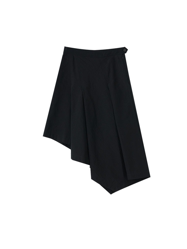 COTTON LINEN ASYMMETRIC SKIRT - 아데쿠베