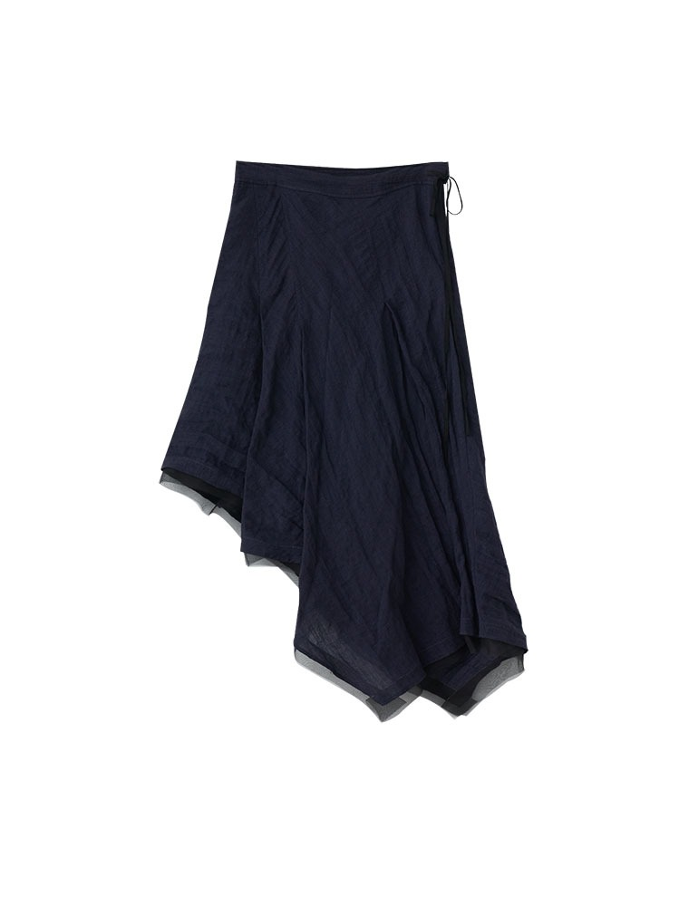 WOOL BLEND ASYMMETRIC SKIRT - 아데쿠베