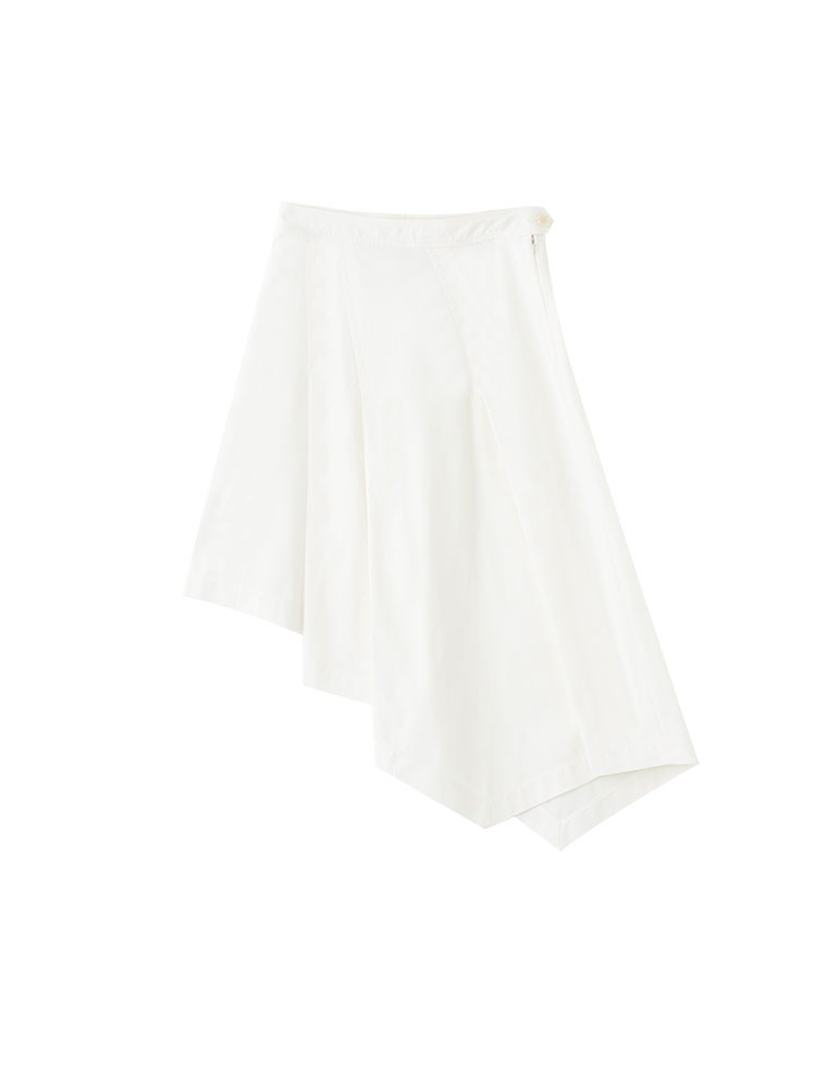 BIO COTTON ASYMMETRIC SKIRT - 아데쿠베