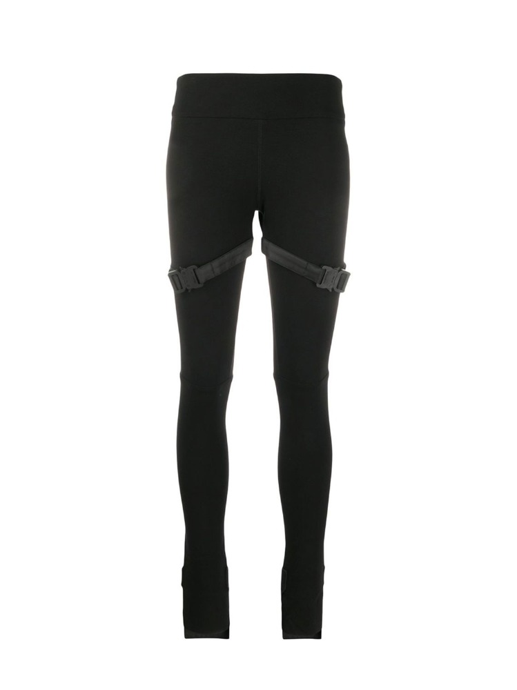 BUCKLE DETAIL ASYMMETRIC CUFF LEGGINGS - 아데쿠베
