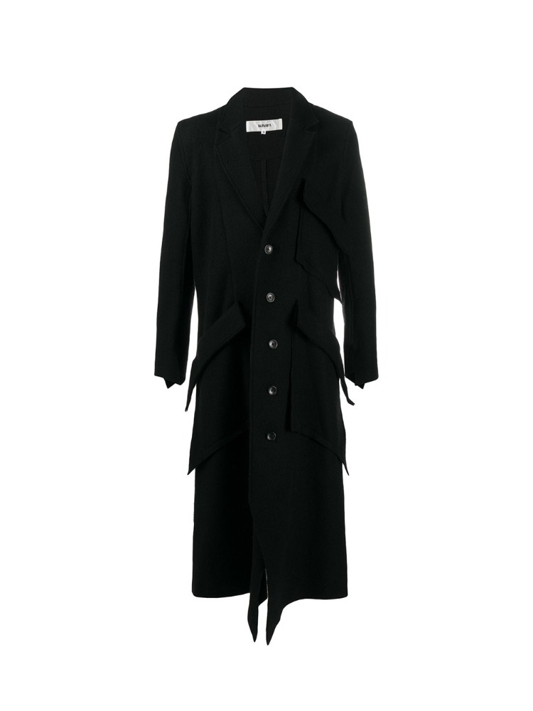BLANKET SLIT LONG COAT - 아데쿠베