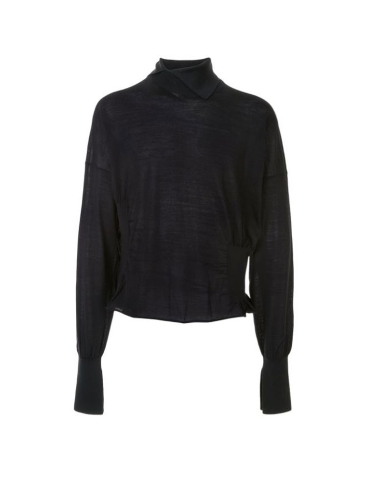HIGH NECK RIB KNIT - 아데쿠베