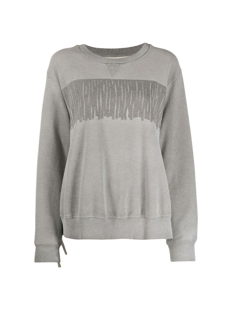 FRINGED DETAIL CREW NECK SWEATSHIRT - 아데쿠베