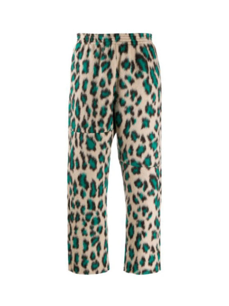 LEOPARD-PRINT CROPPED TROUSERS - 아데쿠베