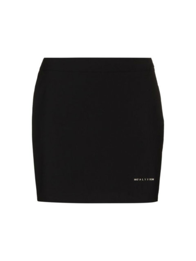 LOGO-PRINT MINI SKIRT - 아데쿠베