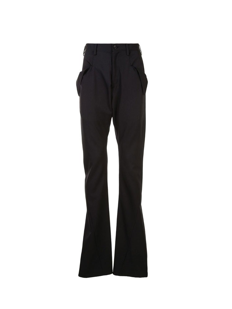 GARBARDINE BOOT CUT PANTS - 아데쿠베