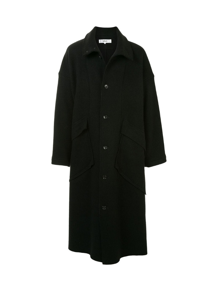 BLANKET STAND COLLAR COAT - 아데쿠베