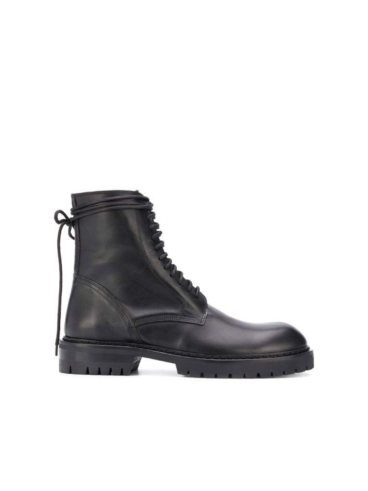 LACE UP BIKER BOOTS - 아데쿠베