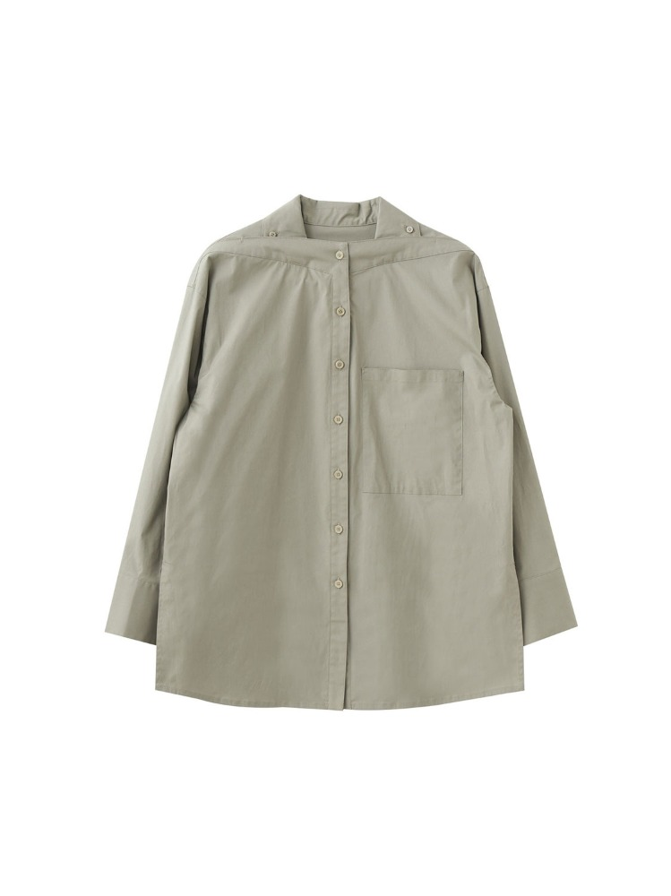 PSLM STAND COLLAR SHIRT - 아데쿠베