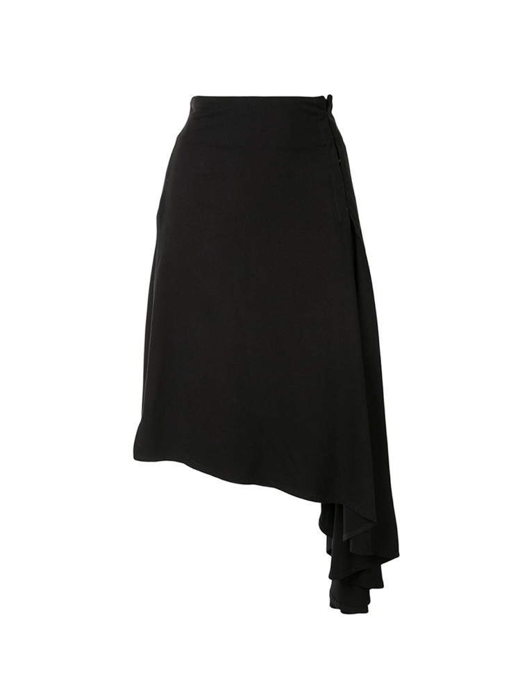ASYMMETRIC MIDI SKIRT - 아데쿠베