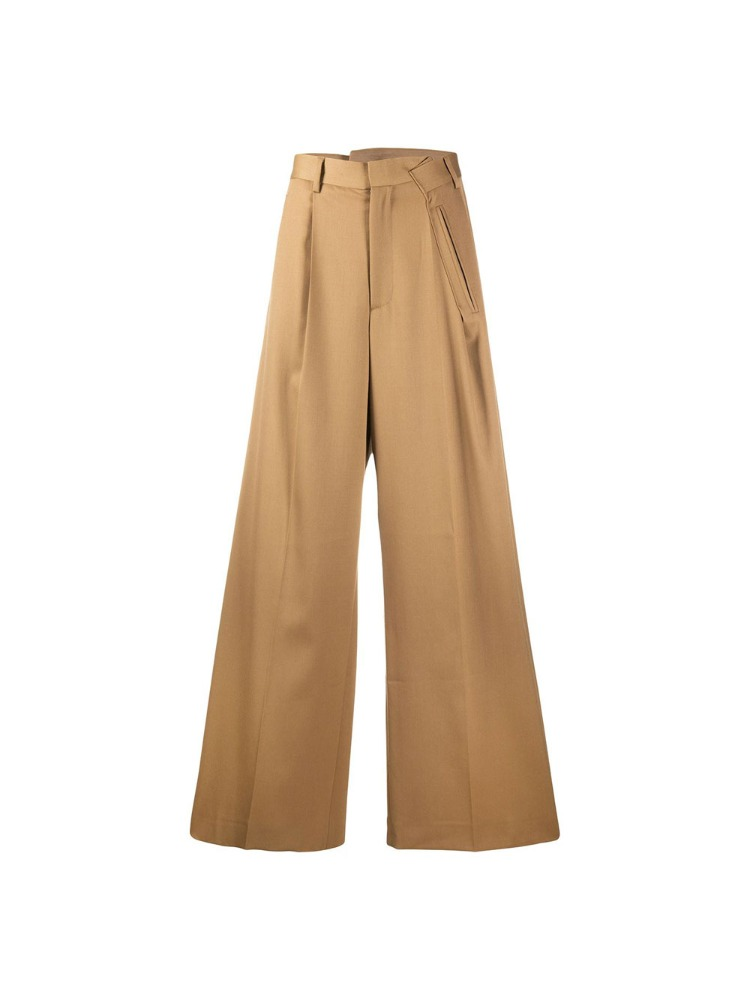 FOLD-DETAIL TROUSERS - 아데쿠베