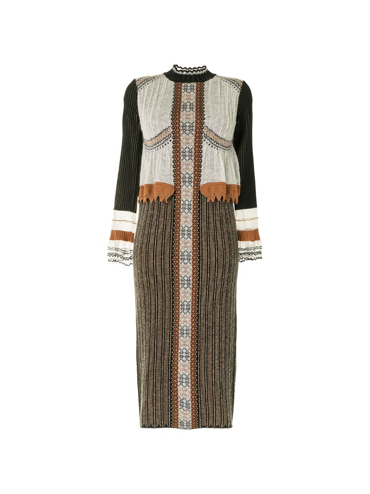 LAYERED KNITTED DRESS - 아데쿠베