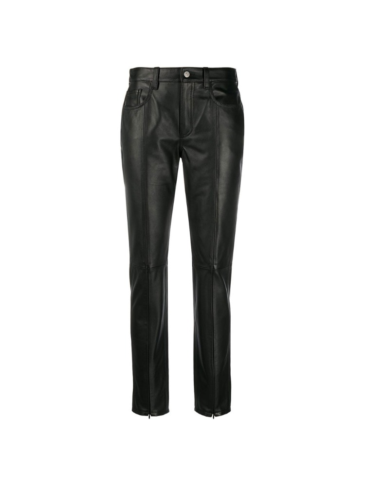 SPLIT HEM LEATHER TROUSERS - 아데쿠베