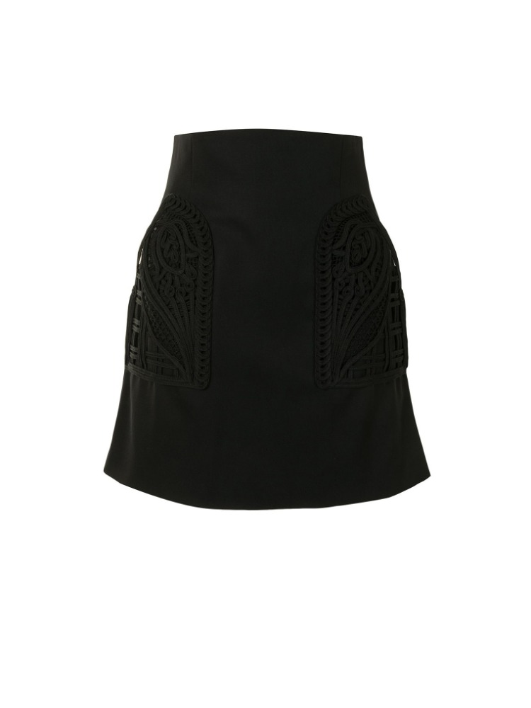 WOOL HIGH WAISTED MINI SKIRT - 아데쿠베