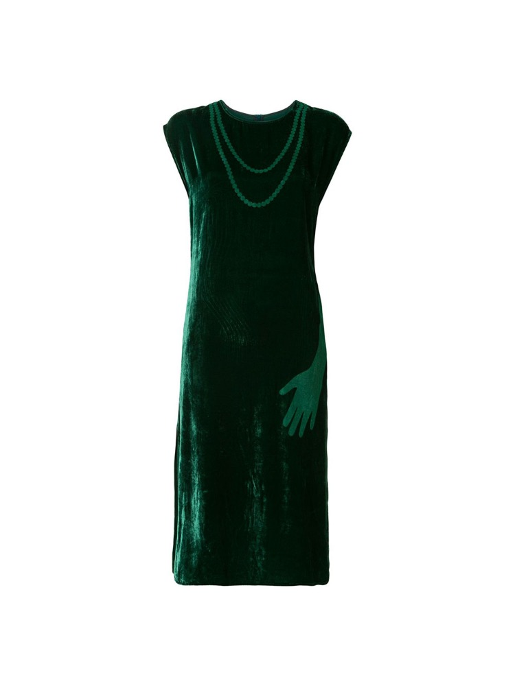 VELVET SLEEVELESS DRESS - 아데쿠베