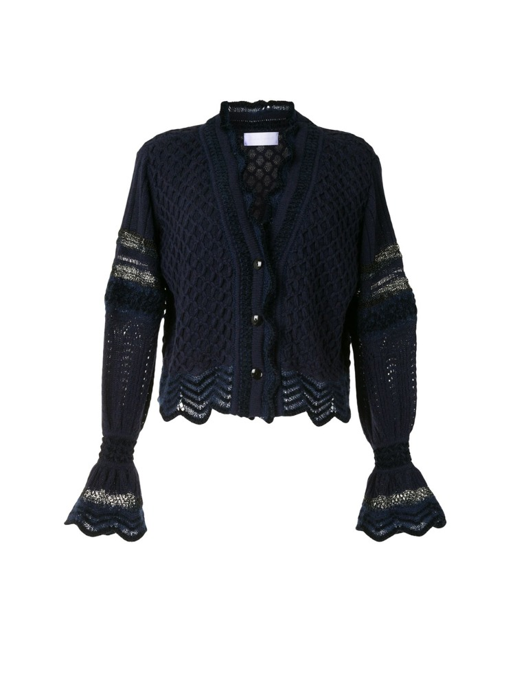 LACE KNITTING CARDIGAN - 아데쿠베
